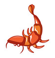 sea shrimp icon cartoon style vector image