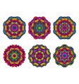 Set of mandalas Beautiful hand drawn flowers vector image vector image