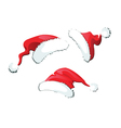 Set of Santa Claus hats vector image