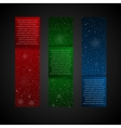 Set Vertical RGB Banners New Year Christmas vector image vector image