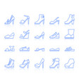 shoes simple color line icons set vector image