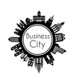 silhouette city building vector image vector image