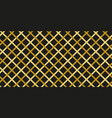 simple gold black line seamless pattern vector image vector image