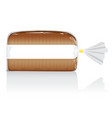 sliced brown bread loaf visual in clear bag vector image vector image