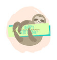 sloth element of card vector image vector image
