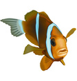 Striped Ocean Fish vector image vector image