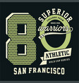 superior athletic san francisco vector image vector image