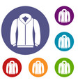 sweatshirt icons set vector image vector image