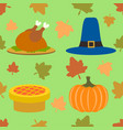 thanksgiving day seamless background vector image