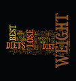 the best diets to lose weight text background vector image vector image