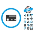 Ticket Flat Icon with Bonus vector image vector image