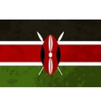 True proportions Kenya flag with texture vector image vector image