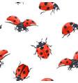 watercolor ladybug seamless pattern vector image vector image