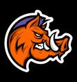 wild hog logo vector image vector image