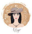 zodiac signs virgo in image of beauty gi vector image vector image