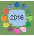 Palette of colors simple 2015 year calendar vector image