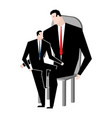 businessmen and son business relatives family vector image
