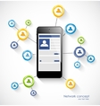 Social network concept with smartphone vector image