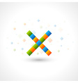 Abstact X Logo template vector image