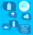 lets save water together eco agitation placard vector image