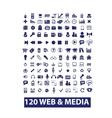 120 media web icons set vector image