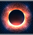 a black hole with bright sparkles vector image vector image