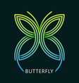 abstract butterfly geometric logo vector image vector image