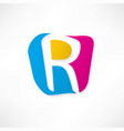 abstract icon based on the letter r vector image