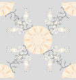 abstract seamless pattern on gray beige and vector image vector image