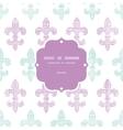 Abstract textile fleur de lis stripes frame vector image