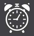 alarm clock solid icon time and deadline vector image
