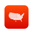 american map icon digital red vector image vector image