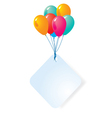 balloon with blank card vector image vector image