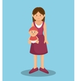 beautiful mother family member vector image
