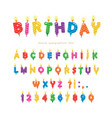 birthday candles colorful font design bright vector image vector image