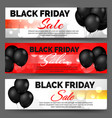 black friday banners with balloons vector image