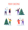 business people celebrating new year 2019 party vector image