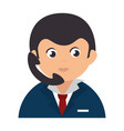 businessman worker with phone isolated icon vector image