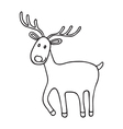 Cartoon Christmas deer icon doodle vector image