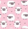cartoon sheep seamless pattern vector image vector image