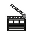clapperboard icon image vector image vector image