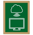 Cloud computng technology vector image