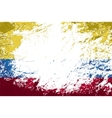 Colombian flag Grunge background vector image vector image