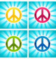 Colorful Peace Signs vector image vector image