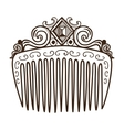 Comb with decorations vector image vector image