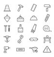 Construction Icons Line vector image vector image