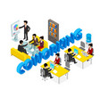 coworking office people business man vector image vector image