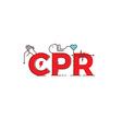 CPR word design vector image vector image