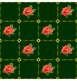 dark green texture with roses vector image