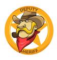 Deputi Sheriff vector image